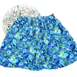 Mossimo Skirt Faux Button Pull On Skater Floral